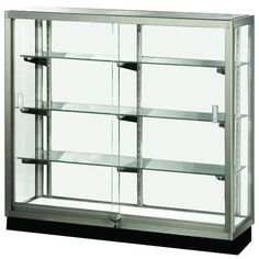 Standard Full View Trophy Showcase ($727) ❤ liked on Polyvore featuring home, furniture, storage & shelves, display units, glass curio cabinet, glass display unit, display furniture, display unit and curio display cabinet