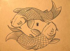 pair of koi tattoo meaning | Pin Pair Of Koi Fish Tattoo May 28 2009 By Masami Gemini on Pinterest