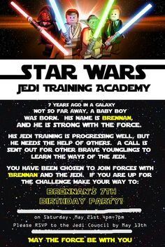 Star Wars invite ... Maybe we should do a star wars lego theme LOL