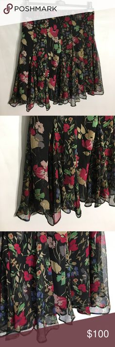 "LAUREN Ralph Lauren Black Multi Floral Skirt - 12 Approx measurements (flat without stretching):  Very slight stretch.  Waist:  17"".  Length:  24"".  Please ask questions before purchasing. 📌Only Fair Offers Considered.  Thank you for stopping by my closet.  Sparkles ✨ and Happy Poshing! Lauren Ralph Lauren Skirts"