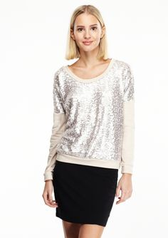 772d914684f6 On ideeli  POTTER S POT Long Sleeve Sweatshirt with Sequin Front Retail  Therapy