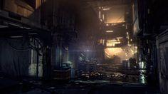 ArtStation - DEUS EX: MANKIND DIVIDED   Golem City - Social Hub, Michel Lanoie