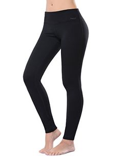 WingsLove Women Active Fitted Stretchy Seamless Cotton Yoga Capris Leggings Pants (S, Black) * More info could be found at the image url.