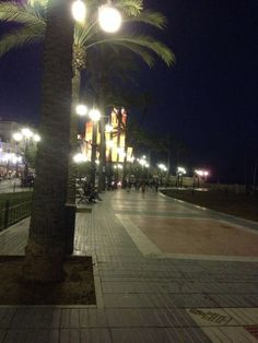 FaceTime from Sitges at night