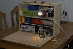 Mobile electronics workbench open - This is the best.
