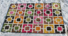 """Garden Fence quilt tutorial at Freemotion by the River This will make a 10 1/2"""" block which finishes at 10 inches when you sew the blocks together. Click on the graphic to open a 4 x 6 inch cheat sheet for this block or you can find it in the PDF file listed at the end of my post."""