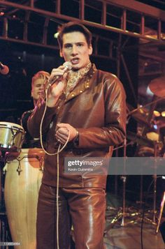 Tony Hadley performing with Spandau Ballet on the BBC TV music programme 'The Oxford Road Show' Manchester January 1982 Ross Williams, Gary Kemp, Martin Kemp, Stock Pictures, Stock Photos, Singapore Grand Prix, Isle Of Wight Festival, Ballet Pictures, Tears For Fears