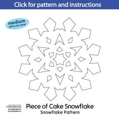 Snowflake chain template christmas pinterest snowflake lots of snowflake patterns maxwellsz