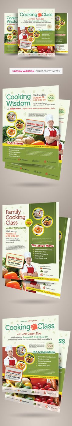 Cooking Class Flyers on Behance
