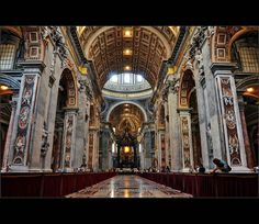 The interior of St. Peter's Basilica, Rome. by Violet Kashi, via Flickr