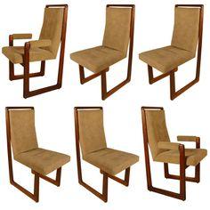 Set Of Six Kagan Cubist Dining Chairs