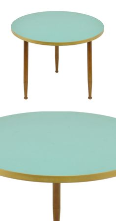 Handsomely designed, this Maiandra Table uses mid-century–inspired elements in a chicly modern way. Its sleek round mint tabletop pairs well with its charming trio of naturally finished wood feet. Top ...  Find the Maiandra Table, as seen in the Under the Mid-Century Sea Collection at http://dotandbo.com/collections/under-the-mid-century-sea?utm_source=pinterest&utm_medium=organic&db_sku=115077