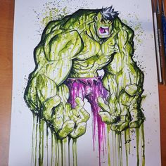 Commission: Hulk Saucy Watercolor Paint by RobDuenas.deviantart.com on @DeviantArt