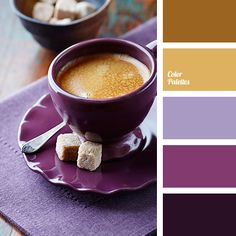 Violet, lilac, and gold Colour Pallette, Color Palate, Colour Schemes, Color Combinations, Purple Bathrooms, Color Harmony, Design Seeds, Colour Board, Color Swatches