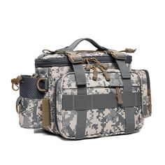 Camouflage Tactical Waist Bag Travel Outdoor Shoulder Bag Messenger Bag For Men is hot-sale, many other cheap crossbody bags on sale for men are provided on NewChic. Cheap Crossbody Bags, Fish In A Bag, Messenger Bag Men, Online Bags, Bag Sale, Bag Storage, Travel Bags, Camouflage, Backpacks