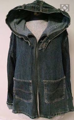 d1db9a2bea35b Mens and Boys Jeans to Womens Jean Jacket (Refashion Co-op)