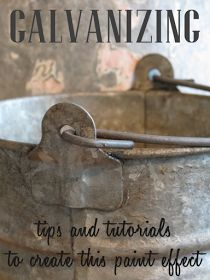 Galvanizing: tips and tutorials to create this paint effect