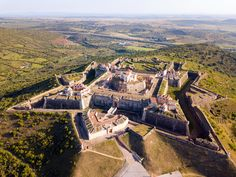Picture of Picturesque aerial view of star fort of La Lippe (Nossa Senhora da Graca Fort) on top of Monte da Graca near Elvas, Portugal stock photo, images and stock photography. Algarve, Portugal Vacation, Portugal Travel, Image Photography, Travel Photography, Star Fort, Parque Natural, Reserva Natural, Plan Your Trip