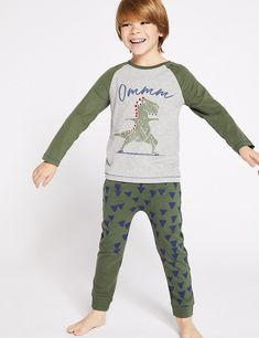 Buy the Dinosaur Print Pyjamas Years) from Marks and Spencer's range. Pretty Boys, Cute Boys, Kids Boys, Boys Pajamas, Pyjamas, Boy Haircuts Long, Kid Poses, Pajama Set, Teen Fashion