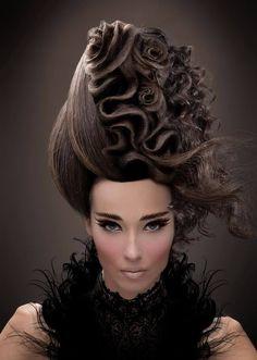 Hair roses by Ziortza Zarauza of Spain. #HotOnBeauty www.hotonbeauty.com