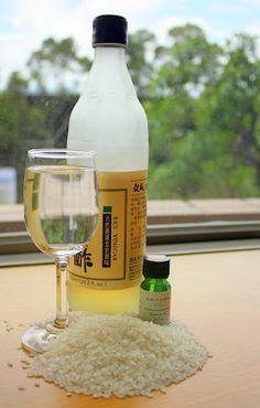 Make Natural Face Toner with Rice Vinegar or Apple Cider Vinegar. Use green tea instead of water.