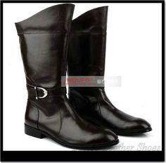 6611c35c2f Full leather men's boots Tall boots zipper Korean men pointed genuine  leather boots men Lovaglócsizmák,
