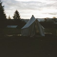 thecindercone:  Greg's canvas tent