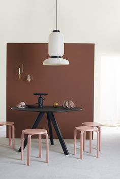 Urban Living collection from Jotun Colour Collection 2017 adds a wonderful energy, creating a home that inspires, just like the big cities Brown Walls, Red Walls, Jotun Lady, Deco Rose, Hotel Interiors, Cafe Interior, Design Interior, Home Living, Interiores Design
