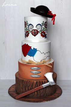 Czech and Slovakia - national cake by Lorna Dress Cake, Cute Cakes, Cake Decorating, Whimsical, Goodies, Culture, Traditional, Tableware, Creative