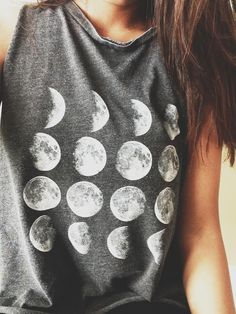 Gray, lunar phases shirt. Found on tumblr.