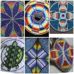 Native BeadWork--ideas for canes? Beading Tools, Beading Projects, Beading Tutorials, Beading Patterns, Indian Beadwork, Native Beadwork, Native American Beadwork, Seed Bead Art, Seed Bead Crafts