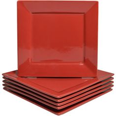 10 Strawberry Street Nova Square Salad Plates, Set of 6 Another salad plate option comes in green and blue 2.66 ea.