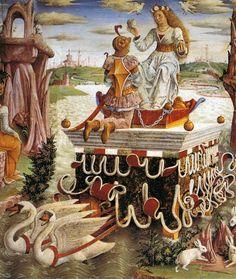 Francesco del Cossa - Allegory of April-Triumph of Venus (detail)