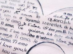 Je t'aime... I love you... Ti amo... Te quiero... Ich liebe dich... L'amour parle toutes les langues !