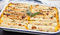 Butternut Squash Cannelloni with Sage Cream Sauce