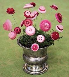 un bouquet de boutons