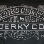 Banner for Kings County Jerky Co. drawn on chalk fabric. (Dana Tanamachi is a graphic designer and custom chalk letterer living in Brooklyn, New York. Chalkboard Typography, Chalk Lettering, Chalkboard Designs, Typography Letters, Typography Design, Chalkboard Ideas, Chalkboard Writing, Vintage Chalkboard, Blackboard Chalk