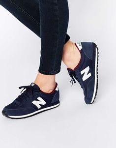 c5f3d80727c0 Fashion New Balance 410 Navy White Trainers With Check Trim Nb Shoes