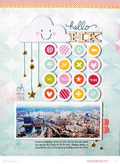 Hello HK by qingmei at @studio_calico - 8.5x11 travel layout