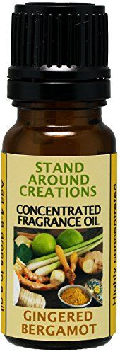 Concentrated Fragrance Oil - Gingered Bergamot: A blend of fresh citrus bergamot w/ exotic spices such as ginger, sandalwood, patchouli,