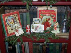 Antique Christmas books and postcards by gnatallica, via Flickr