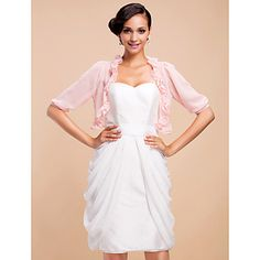 3/4 Sleeve Chiffon Evening/Casual Wrap/Jacket(More Colors) – USD $ 19.19