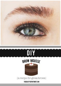 "Brow mousse is perfect for those who want to darken their brows and bring more attention to them without looking like they're ""done"" or ""drawn on"". Click twice on the picture to make your own!"