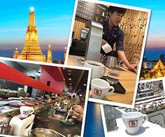 Bangkok è una delle città più dinamiche e in evoluzione del Sud-Est asiatico: la tazzina è arrivata anche qui grazie a Bruno Guzzon!