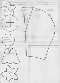 Risultati immagini per cartamodello campana feltro
