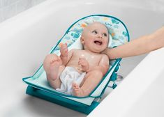 Delta Children Baby Bather Includes 2 Reclining Positions, School of Fish Delta Children, Baby Head, Mesh Material, Sit Up, At Home Store, Bath Time, Recliner, Baby Room, Baby Kids