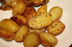 Greek Style Oven Roasted Potatoes via Bette Mills Facebook Page