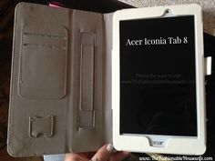 acer iconia tab 8 with a white cover #inteltablets #tabletcrew