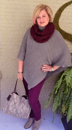 Fashion over 40. Poncho