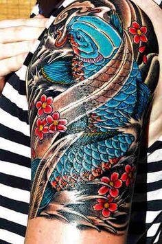 koi tattoo like the colours